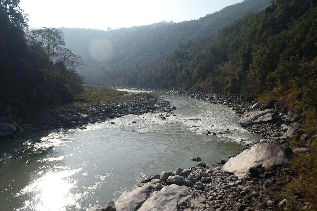 The Arun river at Heluwabesi