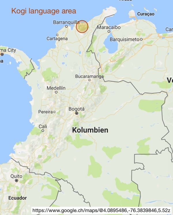 Kogi language area