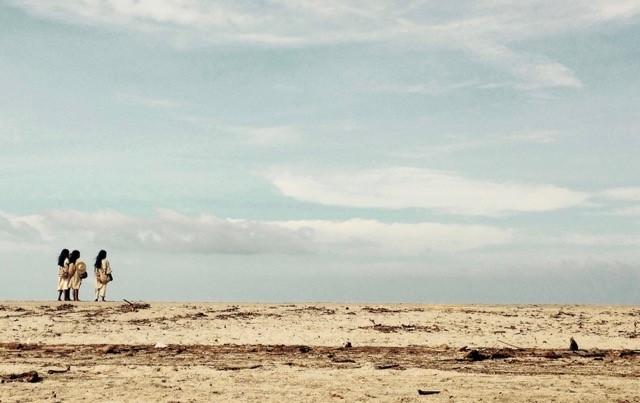 Young Kogi men at the beach of Palomino